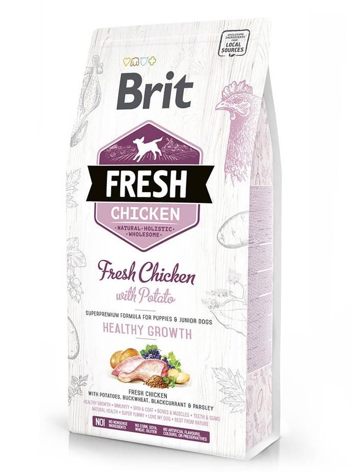 Корм для собак Brit Fresh Chicken/Potato Puppy & Junior Dogs (для щенков) 12кг