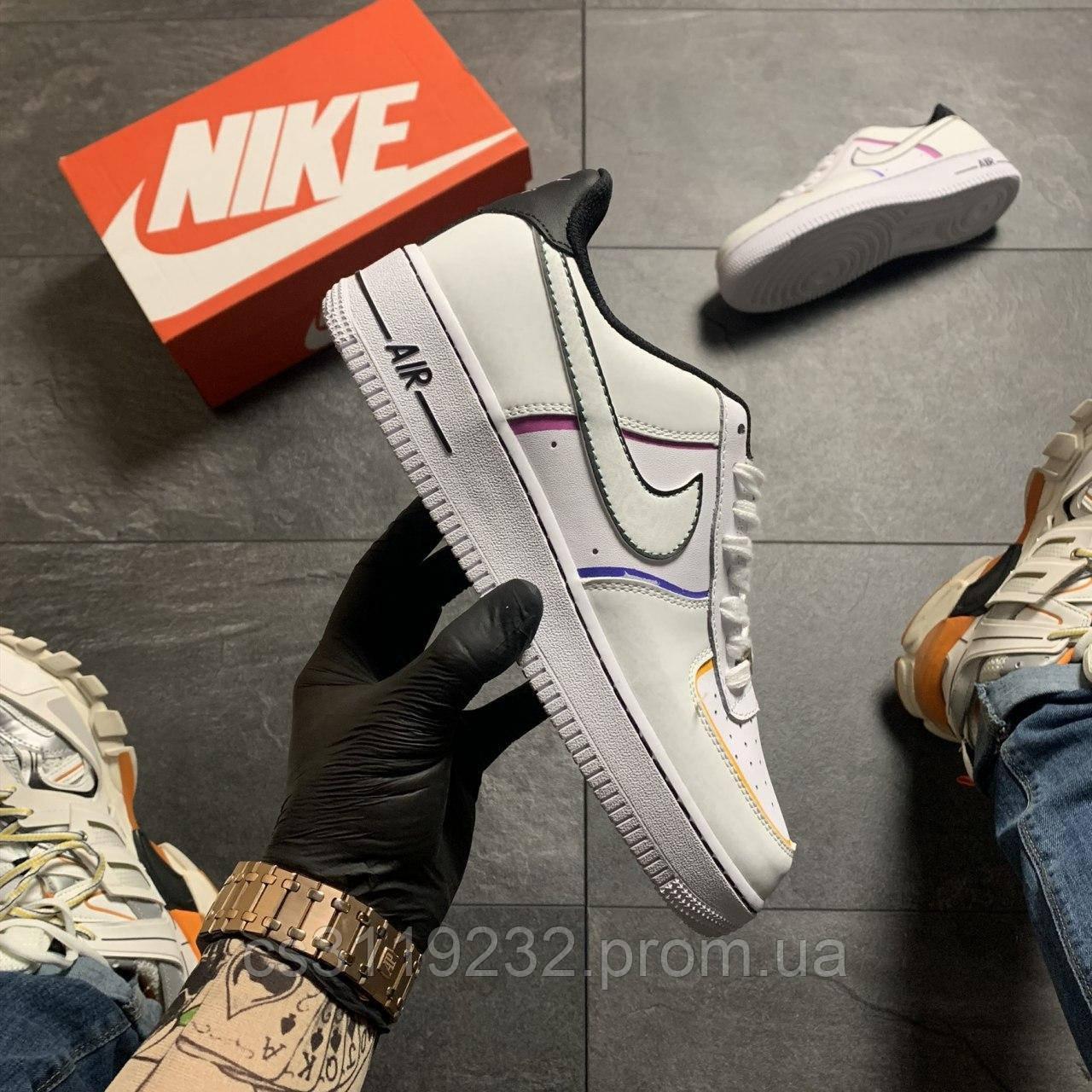 Чоловічі кросівки Nike Air Force 1 Low Day of the Dead (білі)