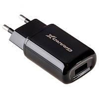 Сетевое зарядное устройство Grand-X (1xUSB 2.1A) Black (CH-15UMB) + microUSB кабель