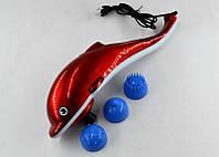 Ручной массажер инфракрасный для тела рук и ног большой Дельфин Dolphin JT-889 красный