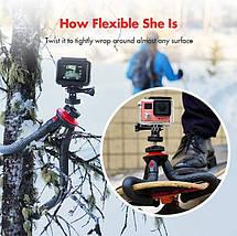 Гибкий штатив/трипод/тренога Fotopro 27 см для смартфонов и фотоаппаратов с поворотным крепление для телефона, фото 2