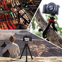 Гибкий штатив/трипод/тренога Fotopro 27 см для смартфонов и фотоаппаратов с поворотным крепление для телефона, фото 3