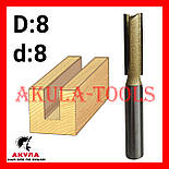 D8 d8 прямая пазовая фреза фреза AКУЛА Pobedit, фото 2