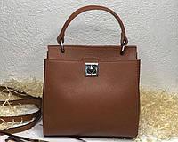Жіноча шкіряна італійська сумка Laura Biaggi (527) коричнева