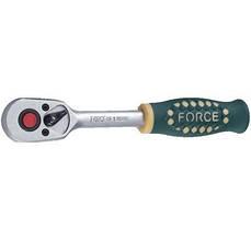 """Трещотка с резиновой ручкой FORCE 80222 1/4"""" 24 зуба 155 мм"""