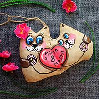 Ароматизированная мягкая игрушка Котики ручной работы с ароматом кофе,ванили и корицы. Подарок маме на 8 марта