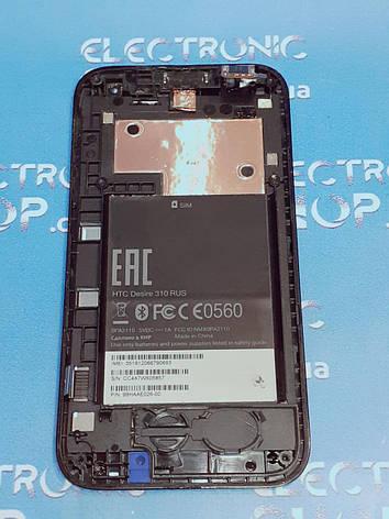 Модуль дисплей, сенсор, рамка HTC Desire 310 Original б.у, фото 2