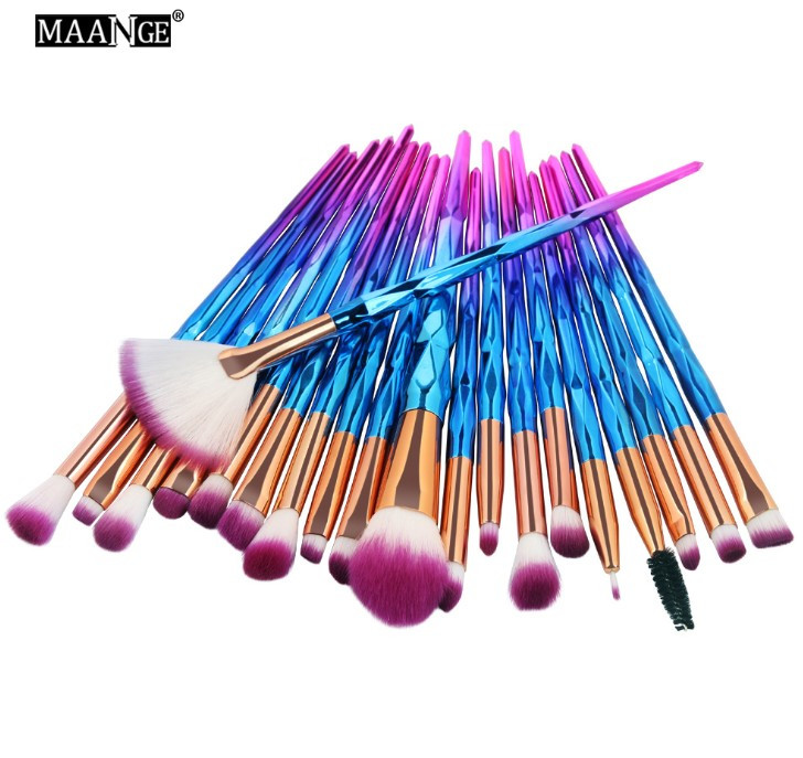 Набор кистей для макияжа 20шт Maange Fly pink