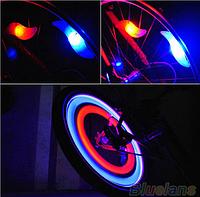 Светодиодная мигалка на колеса для велосипеда, Светодиодная подсветка, светодиодные насадки (синий)