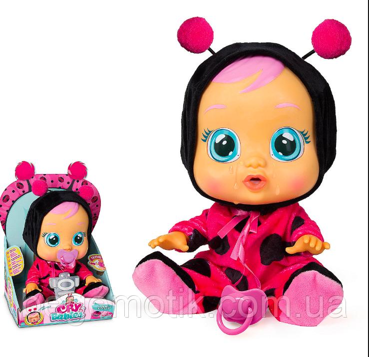 Интерактивная Кукла плакса IMC Toys Cry Babies Lady The Ladybug Doll Пупс Божья коровка Леди (96370)