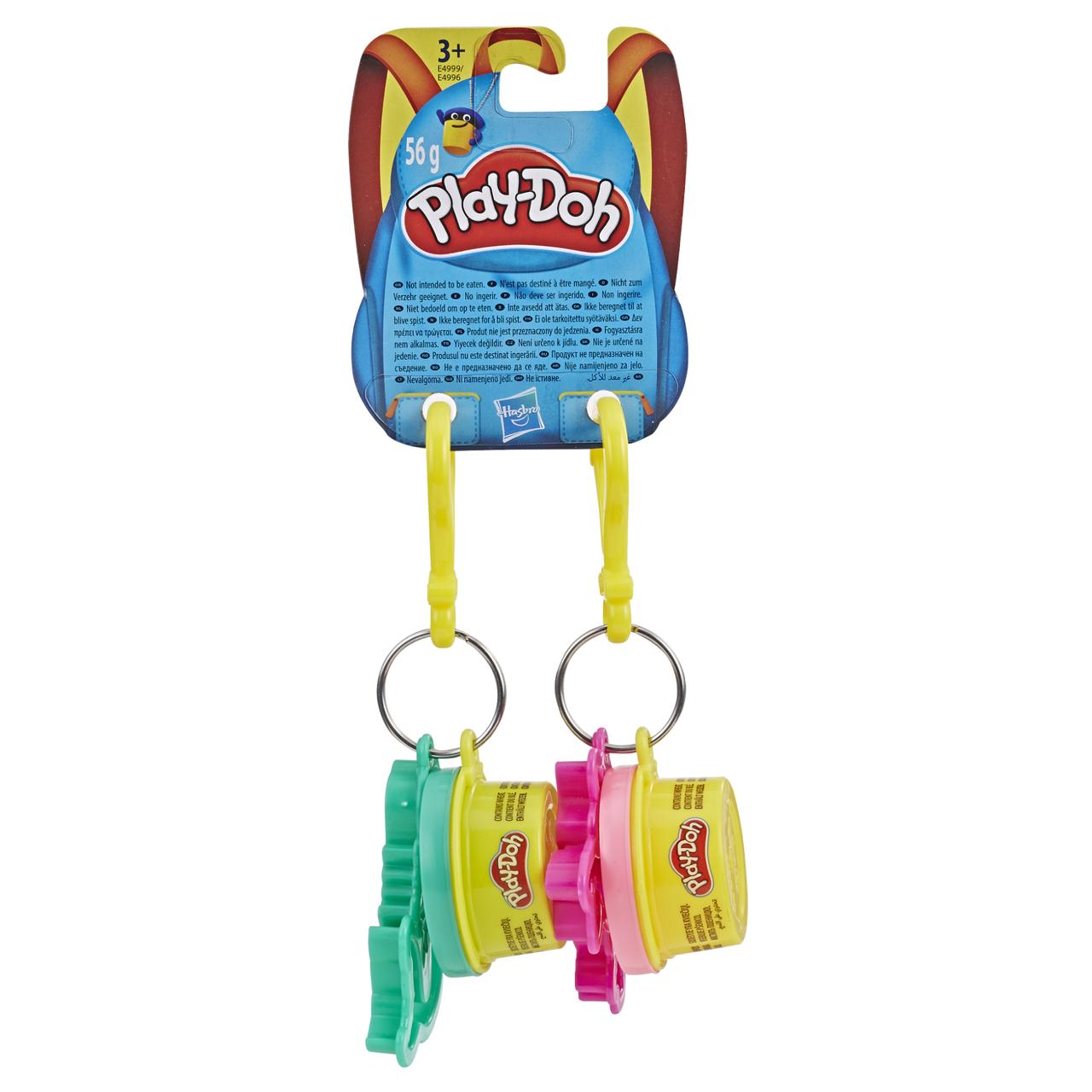 """Пластилин для детской лепки Плей-До """"Брелоки с двумя баночками и формочками"""" (E4996_E4999)"""
