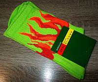 Носки мужские теннисные Огонь салатовые размер 39-42, 42-45