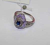 Колечко с синим камнем в серебре Ария , фото 1