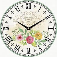 Часы настенные UTA Vintage 330 х 330 х 27 мм Цветы