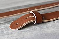 Ременная полоса с отверстиями . Заготовка для ремня светло-коричневая 38 мм.
