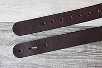 Ременная полоса с отверстиями . Заготовка для ремня коричневая 38 мм.