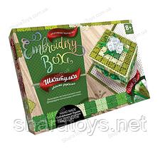 "Шкатулка своими руками ""Embroidery Box"" зеленый цвет"
