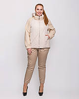 Короткая женская весенняя комбинированная куртка