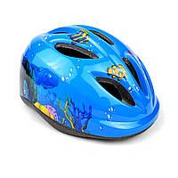 Детский шлем для велосипеда с регулировкой размера синий