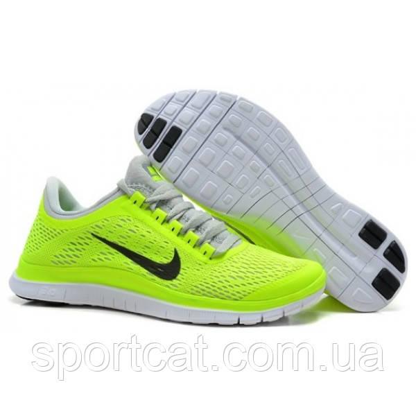 e4256f31 Женские беговые кроссовки Nike Free Run 3.0 V5, салатовые - Интернет-магазин