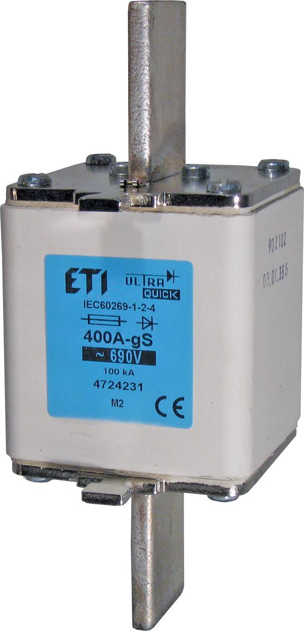Предохранитель ETI M2 gS 400A 690V 100kA 4724231 ножевой сверхбыстрый (NH-2)
