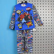 6076-002-33-4 Пижама детская Монстртрак для мальчика размер 122