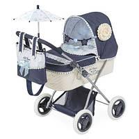 KM85020 Коляска   для куклы,классика,сумка, корзинка,зонт,подушка, 65-38-в60см,в кор-ке,34-53-11с