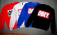 Свитшот мужской с принтом OBEY Обей черный/синий/серый/красный