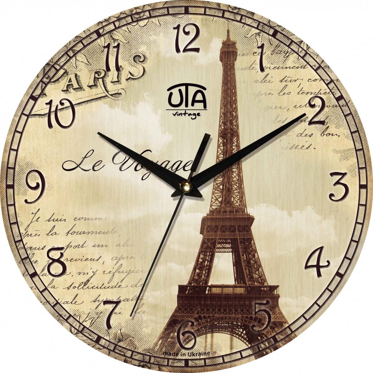 Часы настенные UTA Vintage 330 х 330 х 27 мм Города