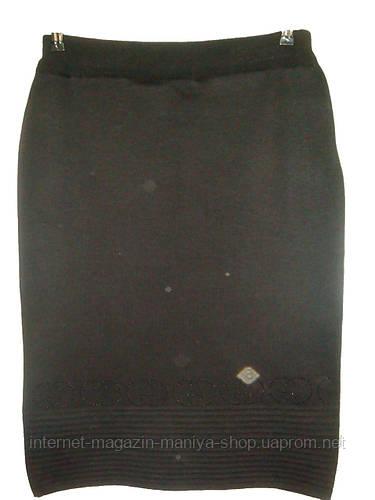 Женская юбка трикотаж полубатал 70см
