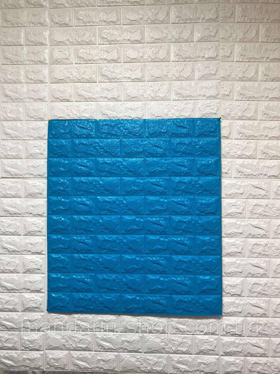 Самоклеющиеся обои Декоративная 3D панель ПВХ 1 шт, синий кирпич