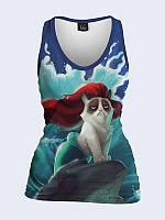 Женская 3D  Майка Grumpy cat Disney