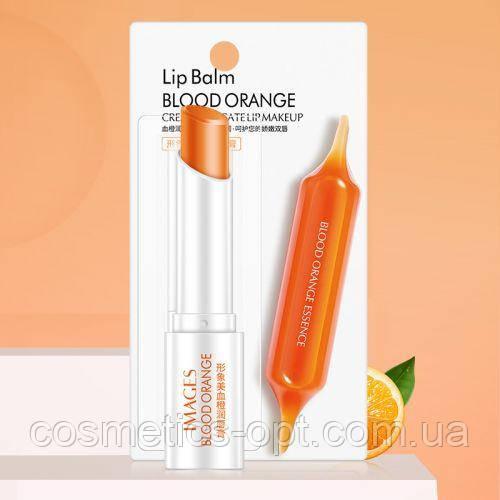 Бальзам для губ IMAGES Lip Balm BLOOD с экстрактом апельсина и кокосового масла, 2.7 г