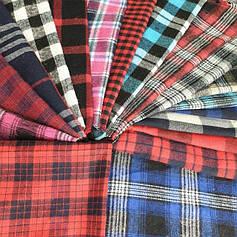 Сорочкові (байкова) тканина в клітку