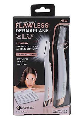 Триммер для удаления волос на лице Flawless DermaPlane Glo