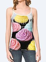 Женская 3D  Майка Окончание диеты