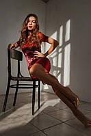 Вечернее бархатное платье с кружевом   (48-54), фото 1
