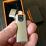 Електронна USB запальничка сенсорна кнопка індикатор рівня заряду, фото 6