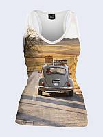 Женская 3D  Майка-борцовка В дорогу на авто