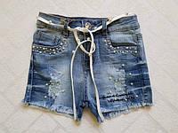 Джинсовые шортики для девочек, размеры 116-146 см, фирма GRACE, Венгрия