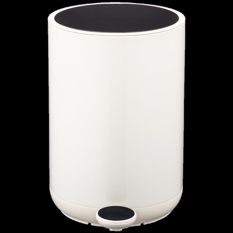 Ведро для мусора Nordic Style JAH 10 л (цвет бежевый, круглое)