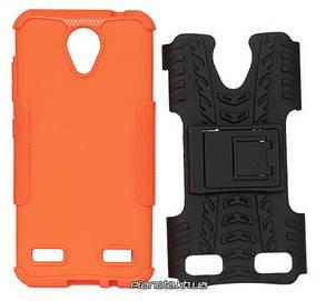 Florence Dazzle Сombo PC + TPU накладка с подставкой для ZTE Blade A520 Orange ( силикон и пластик ), фото 2