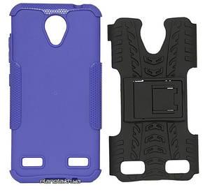Florence Dazzle Сombo PC + TPU накладка с подставкой для ZTE Blade A520 Purple ( силикон и пластик ), фото 2