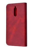 Чехол книжка с визитками для Xiaomi Redmi 8 Бордовый
