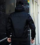 Куртка мужская демисезонная с капюшоном черная Турция. Живое фото (весенняя куртка), фото 2