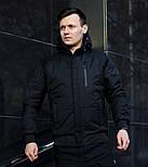 Куртка мужская демисезонная с капюшоном черная Турция. Живое фото (весенняя куртка), фото 3