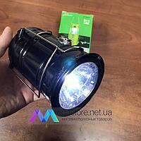 Кемпинговый аккумуляторный LED фонарь JH-5800T туристическая cветодиодная лампа на солнечной батарее