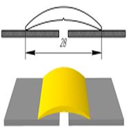 Алюминиевый порожек АП-004