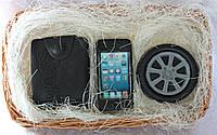 """Мыло ручной работы """"Набор: портмоне, айфон, колесо"""""""