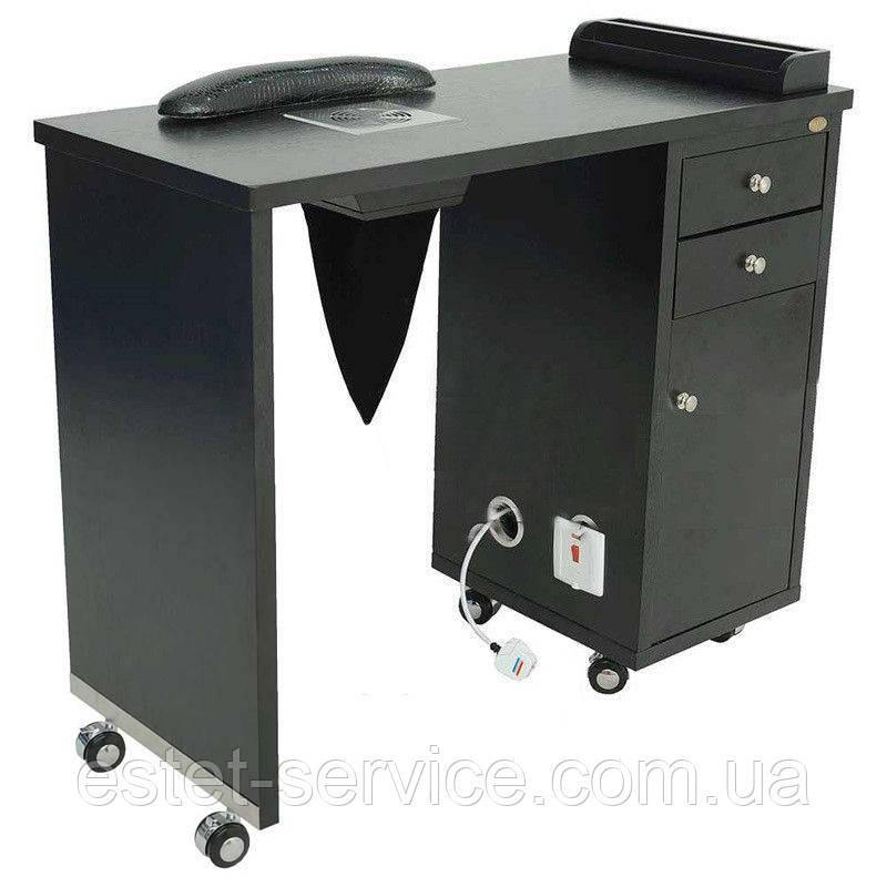 Столик на колесах для мастера маникюра на одну тумбу В122